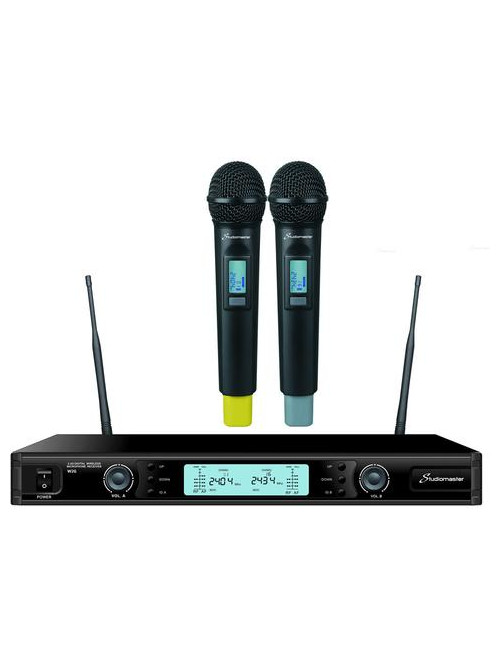 DOUBLE MICROPHONES WIRELESS  A MAIN STUDIOMASTER W2G