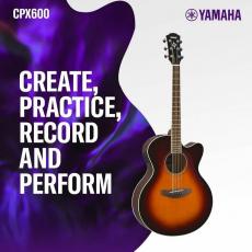 La guitare Yamaha CPX600 offre des sons acoustiques incroyablement forts et un look traditionnel séduisant !😍 ✴PRIX : 1093dt après la remise de 10% #cpx600 #yamahacpx600 #sonomusic_tunisia