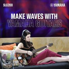 La Silent Guitar YAMAHA SLG200 vous surprendra par son confort et ses possibilités surprenantes sur scène comme en studio !😃🎸🎧🎶🎶 #slg200s #slg200n #sonomusic_tunisia